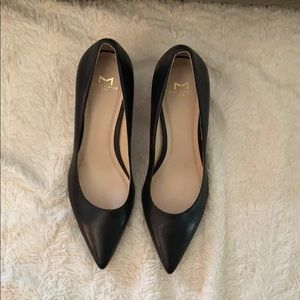 Black leather Marc Fisher heels